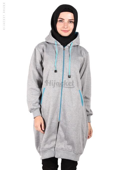 Jaket Parka Biru Turkish jaket hijaber basic grey turkish hijacket hj11 jaket muslimah distro beda