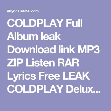 Coldplay Mp3 Download Zip | 17 best ideas about coldplay first album on pinterest