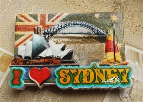 Tempelan Kulkas Australia Souvenir Australia i sydney australia tourist travel souvenir decorative resin fridge magnet craft gift idea