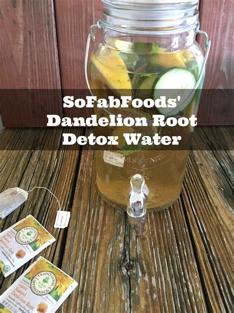 Root For Detox by Sofabfoods Dandelion Root Detox Water Sofabfood