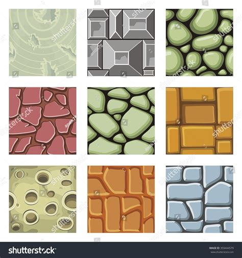 pattern finder game set of pattern for game background vector stone and wall
