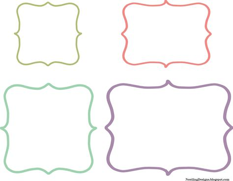 template for sticker labels nestling july 2012