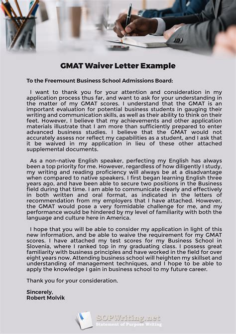 Gmat Waiver Request Letter Exle gmat waiver request letter