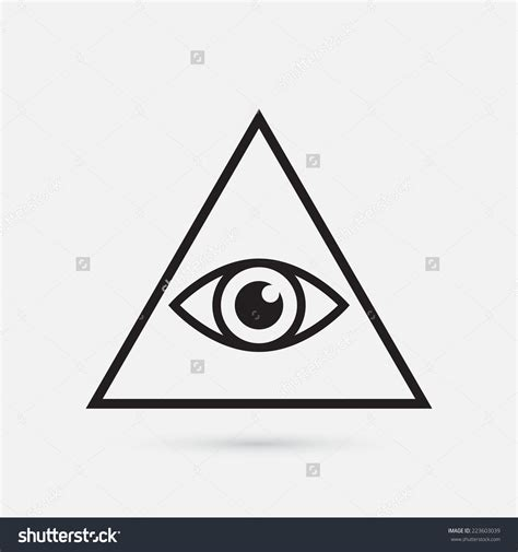 illuminati triangle eye illuminati simple pencil and in color