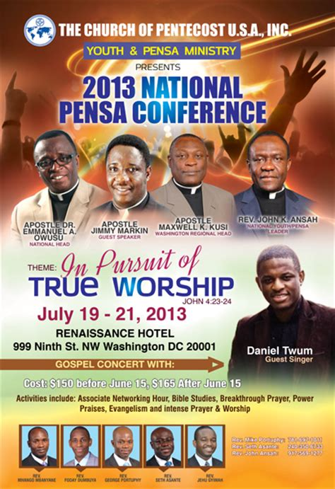 2013 Pensa National Conference The Christian Journal Church Conference Poster Template
