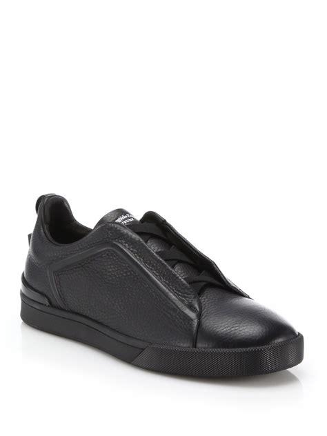 zegna shoes lyst ermenegildo zegna stitch clean sneakers in