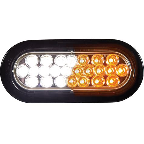 6 oval led lights buyers sl66ac 6 1 2 quot oval amber clear led strobe light