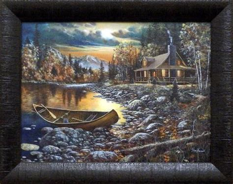 after dark jim hansel cabin framed country picture print interio home decor ebay jim hansel high country retreat studio canvas framed