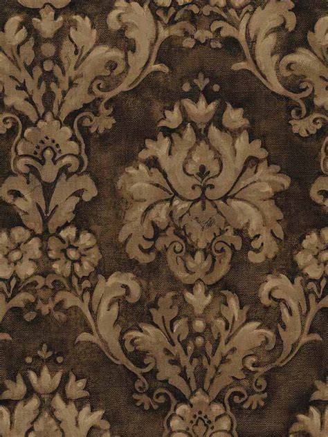 chocolate damask wallpaper designer brown damask wallpaper