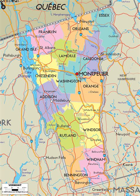 road map of vt vermont county map quotes