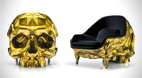 skull armchair 24 karat gold skull armchair costs 500 000 is perfect