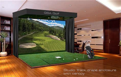golf swing simulator gsa advanced golf simulators enclosures