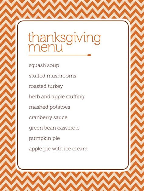 thanksgiving menu templates free thanksgiving menu template word review ebooks