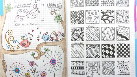 doodle journal my go to doodle drawing journal flip through