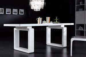 White finish modern dining table w elegant legs grds a 17dt