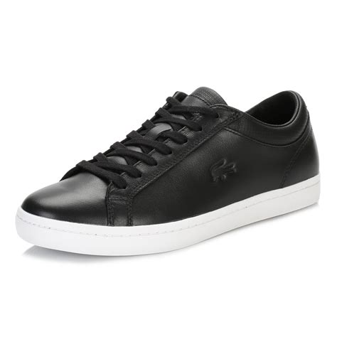 lacoste sport shoes for lacoste mens black straightset 116 trainers sport casual