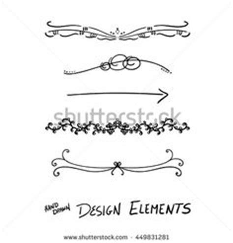 tattoo font underline vector design element beautiful fancy curls and swirls
