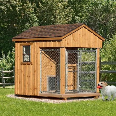 dog house shed combo 17 best images about amish dog kennels on pinterest