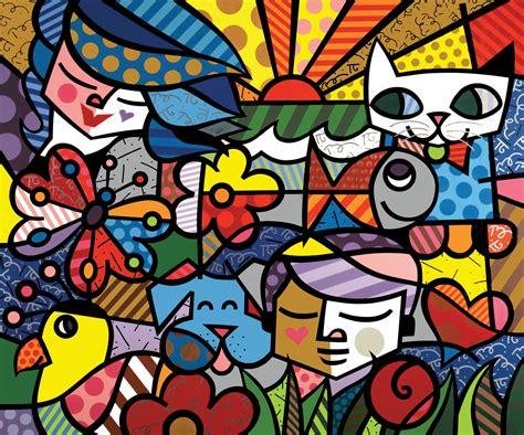doodle mac romero britto print id 154800 buzzerg cats