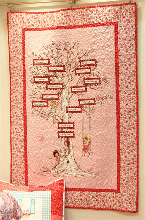 Quilts With Pictures Of Family by Family Tree Quilt