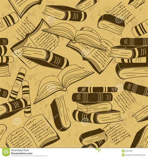 vintage pattern books seamless pattern of books stock image image 32913261