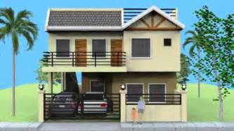 small 3 story house plans home design small storey house with roofdeck 3 story