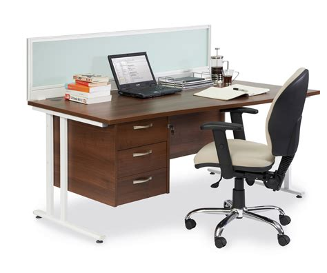 straight desk with drawers maestro 25 wl straight desk with 3 pedestal 1800mm