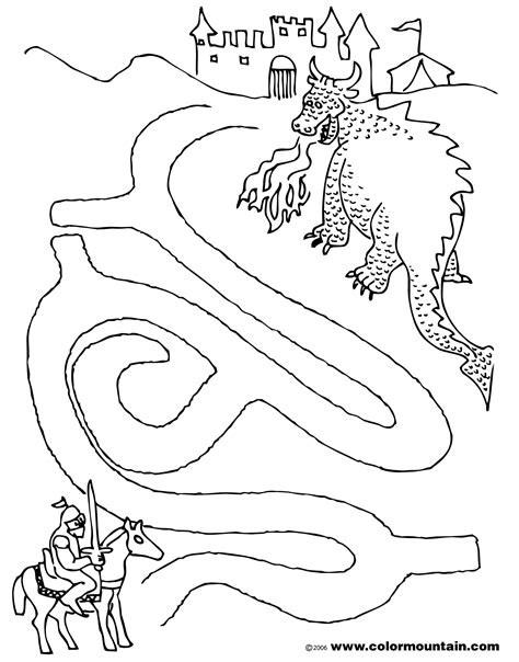 printable dragon mazes dragon maze coloring activity sheet create a printout or