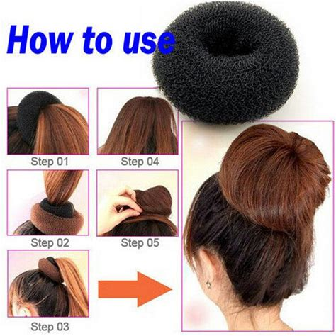 different hairstyle with a bun maker plate hair donut bun maker magic foam sponge hair styling