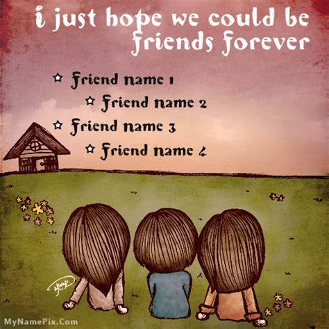 name for for friendship with name