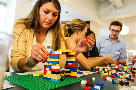 adults that make a living playing with lego bricks kids learn agile with lego table xi