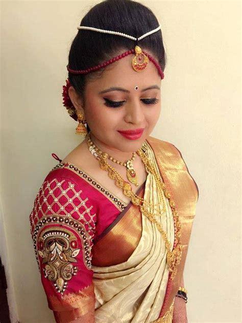 on pinterest saree blouse south indian bride and bridal sarees beautiful south indian bridal saree blouse designs