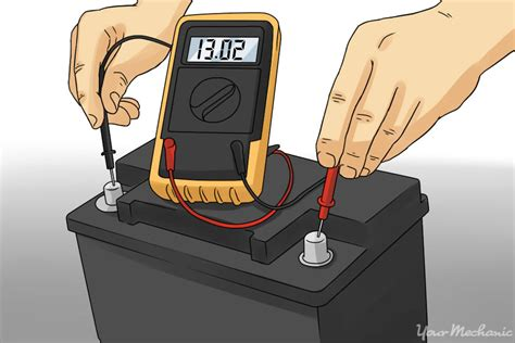 how to use a car battery to power lights how to check a car battery yourmechanic advice