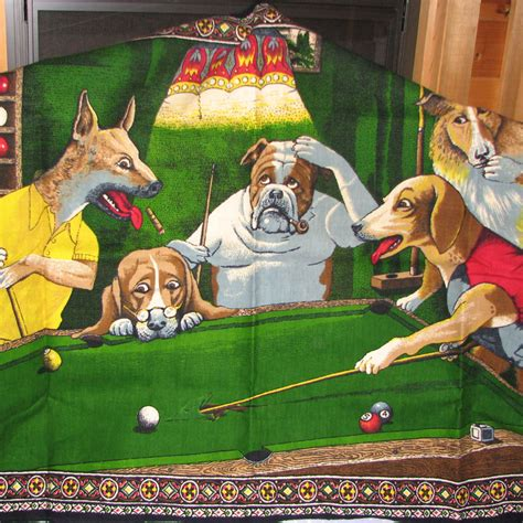 primanurem   vintage dogs playing poker tapestry