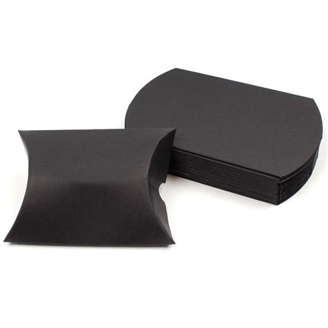 Pillow Boxes Uk by Black Paper Pillow Box 20 Pack Hobbycraft