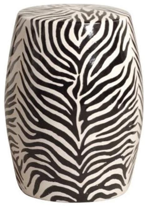 Zebra Side Table Zebra Garden Tea Stool Black White Side Table Eclectic Side Tables And End Tables By Tonic
