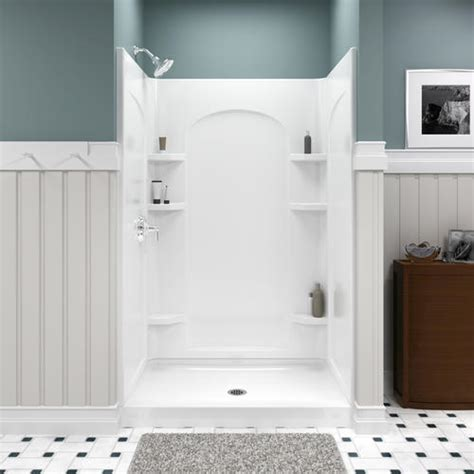 menards bathtub surrounds sterling ensemble 48 quot shower curve shower wall at menards 174