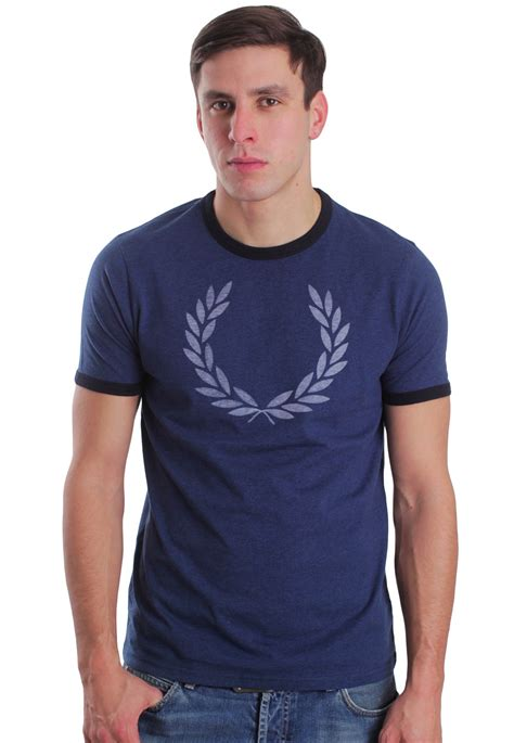Fred Perry T Shirt fred perry marl ringer indigo marl t shirt