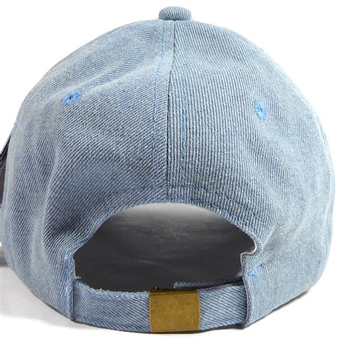 wholesale denim baseball caps blank jean dad hats in bulk