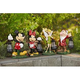 disney statue with solar lantern tinkerbell outdoor
