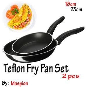teflon frypan set 2in1 18cm dan 23cm fry pan wajan murah