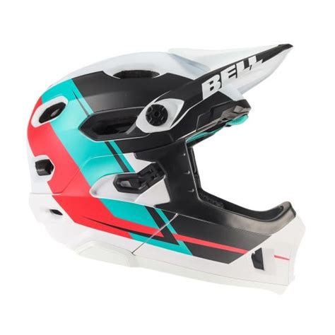 Helm Bell Dh Helm Bell Dh Blau Rot Wei 223 2018 Probikeshop