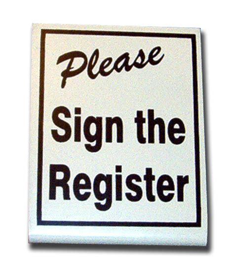 stand up black sign the register supsr 3 25