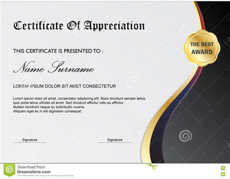 design certificate of appreciation online simple certificate diploma award template gray black