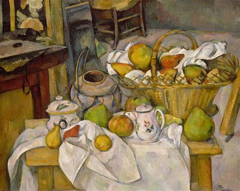 kitchen paintings kitchen table 1888 90 by paul cezanne
