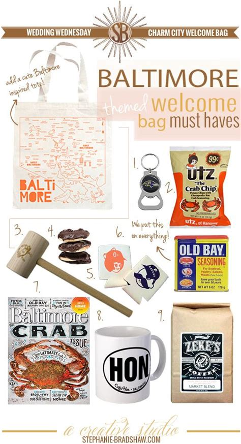 charm city welcome bag for a baltimore themed
