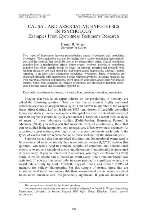 research paper hypothesis exles pdf causal and associative hypotheses in psychology