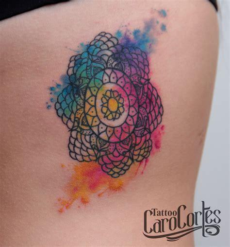 watercolor mandala tattoo watercolor mandala tattoos pinterest watercolor