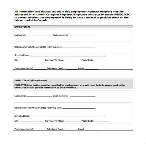 10 Job Contract Templates To Download For Free Sle Templates T M Contract Template