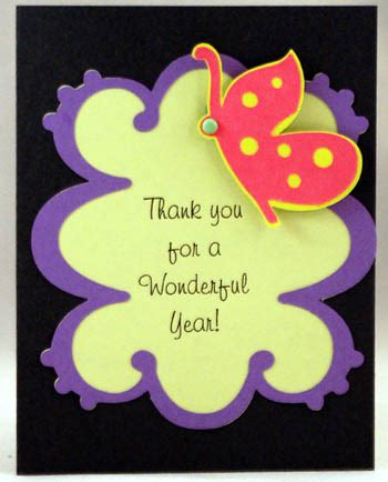 cards to make for teachers thank you card